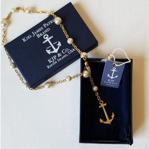 Kiel James Patrick Brand Gold Anchor Necklace